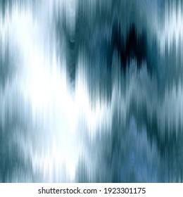 Soft aegean sea green blur stripe texture background. Seamless liquid flow watercolor stripe effect. Wavy wet wash variegated fluid blend pattern for water turquoise sea, ocean, nautical backdrop.