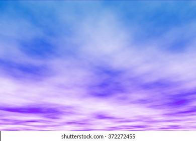 soft bluish- purple sky