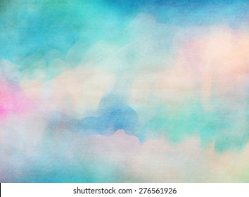 Soft colorful watercolor. Grunge texture background.