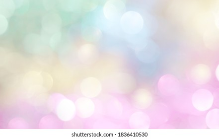 Soft colors blurred spring summer natural bokeh background. Pastel gradient colorful wallpaper, beautiful screensaver for postcards.