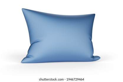 soft feather pillow isolated on white background. 3d illustration