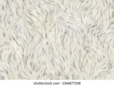 soft fleece shaggy pelt