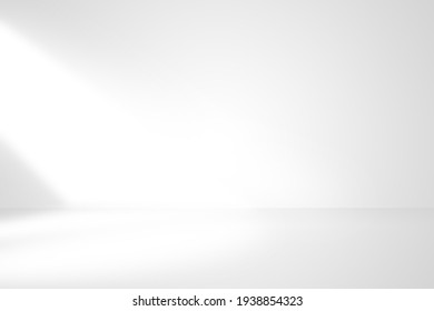 Soft gray studio room background with window with light from window, without any textures used for background and display your product.