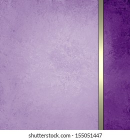 soft pastel purple background, Easter holiday color or wedding announcement invitations background, luxury style formal design with sidebar and gold ribbon stripe layout for web design template backs