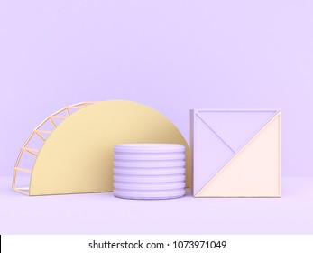 soft purple-violet background abstract geometric shape 3d rendering