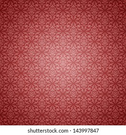 Soft Red Shaded Damask Pattern