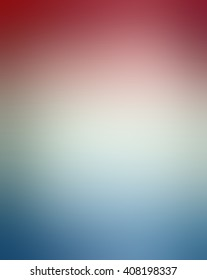 soft red white and blue background blur, for July 4th, memorial day, election voting day or other USA patriotic holiday designs