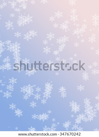 Soft Rose Quartz Serenity Colored Winter Stock Illustration