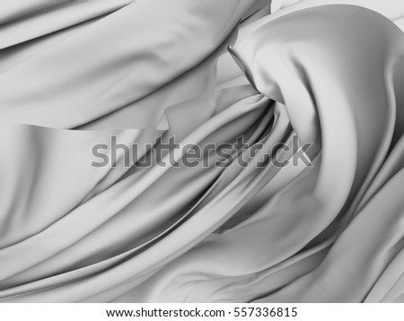 78fd25534e0ea Soft silk satin fabric smooth luxury background. 3d render illustration