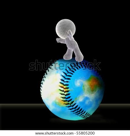 Soft Toy Rolling World Baseball Forward Stock Illustration Royalty