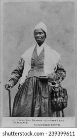 Sojourner Truth (1797-1883) African American and lifelong activist for abolition of slavery and civil rights for freed slaves and women. Carte de visite, ca.1864
