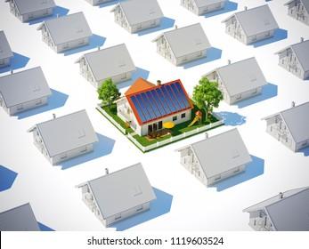 Solar 3d Illustration
