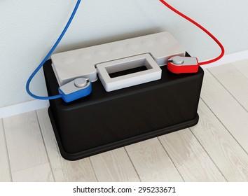 Solar kit concept - solar battery