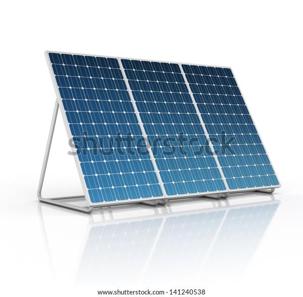 Solarpaneel einzeln auf Weiß