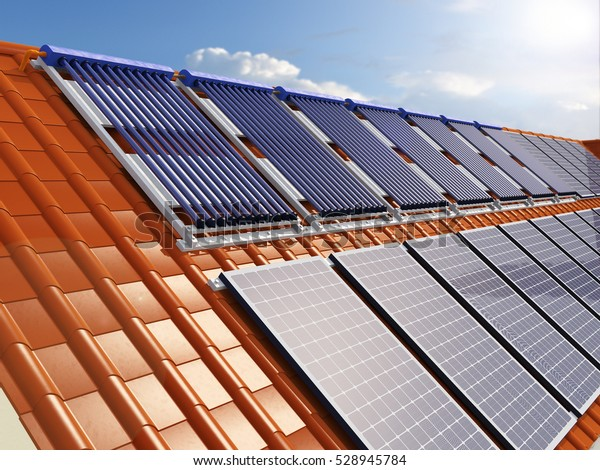 Solar Power House 3d Concept Solar Stock Illustration 528945784