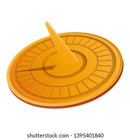 Solar sundial icon. Cartoon of solar sundial icon for web design isolated on white background