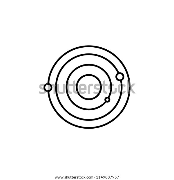 Solar System Icon Element Space Mobile Stock Illustration