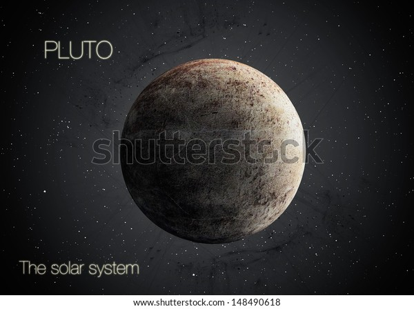 Solar System - Planet Pluto. Elements of this image furnished by NASA