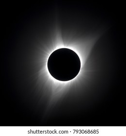 Solar wind and corona during total solar eclipse