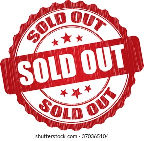 Sold out grunge rubber stamp.