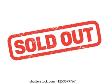 sold out stamp on white background. Sign, label, sticker.
