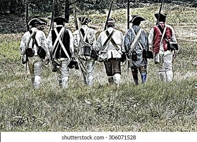 Soldiers of 1776 (Revolutionary War Reenactment)