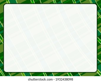 solid light white border plaid pattern illustration graphic for st patricks day holiday