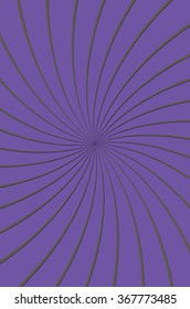 A solid purple background with a pinwheel of thin grey lined uniting in the center of the design.