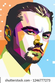 Solo city, indonesia Desember 2nd 2018 : leonardo dicaprio is a talented actor