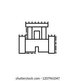 Solomon Temple icon. Element of Jewish icon for mobile concept and web apps. Thin line Solomon Temple icon can be used for web and mobile