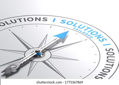 Solutions or Offers. Made-to measure Services. 3d illustration