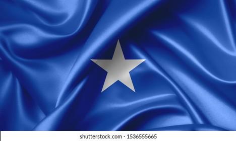 somali flag country symbol illustration