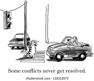 'Some conflicts never get resolved' between cat and dog.