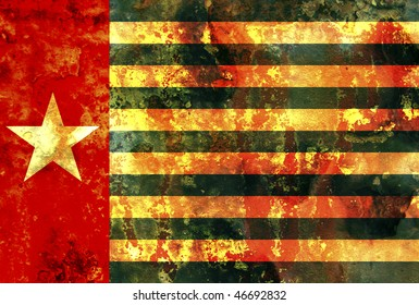 some very old grunge flag of west papua