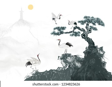 Songhe Yannian ink painting