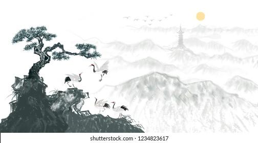 Songhe Yannian Ink Paintings