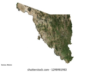 Sonora, Mexico Map (3D illustration)