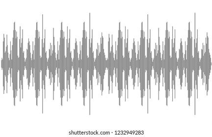 Soun waveforms. Black and white. Amplitude waves. Music sound voice wave. Dynamic equalizer
