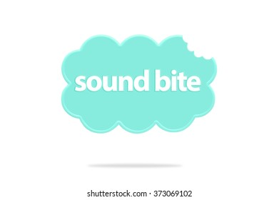 Sound Bite Cloud isolated on white background