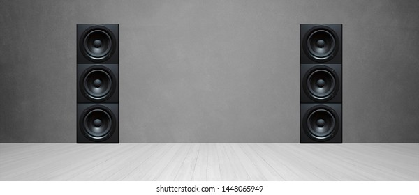 sound speaker in front of background - 3D Illustration