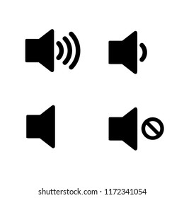 sound volume icon set