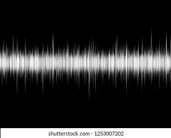 Sound wave on the black background