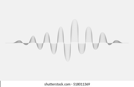 sound waves halftone  elements..