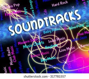 Music Radio Meaning Sound Tracks Tunes Stock Illustration