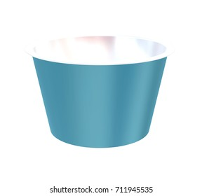 Sour Cream  Cup Tub Carton Container Mockup for Design Project - Mock Up 3D illustration Isolate on White Background