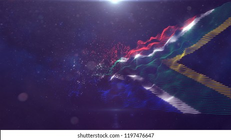 South Africa flag for background