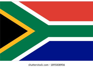 South Africa flag official proportions flat
