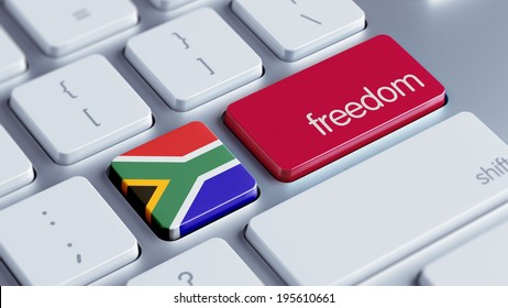 South Africa High Resolution Freedom Concept