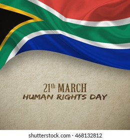 South Africa Human Rights Day concepts background, 3D illustration.