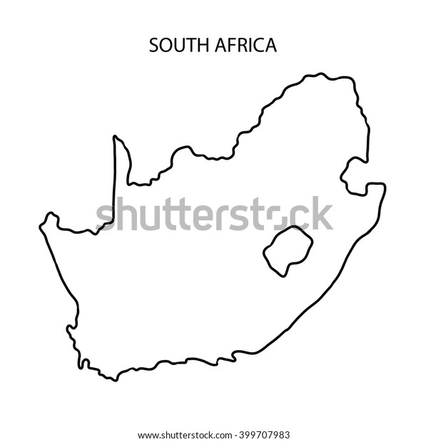 South Africa Map Outline Stockillustration 399707983